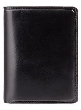 Мужской кожаный кошелек Visconti TR34 BLK/RED Waldorf чёрный с красным