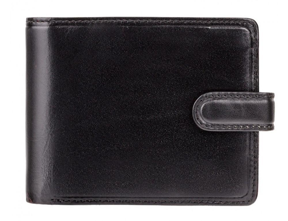 Мужской кожаный кошелек Visconti TR35 - Atlantis чёрный с красным