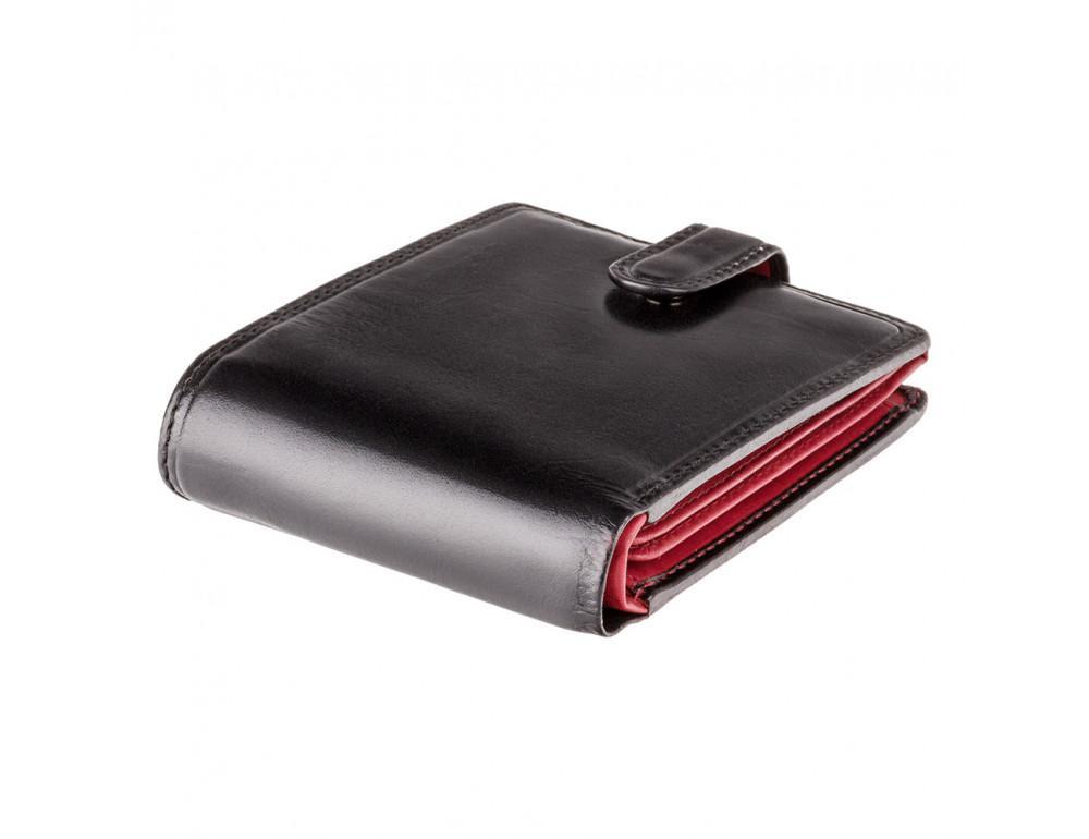 Мужской кожаный кошелек Visconti TR35 - Atlantis чёрный с красным - Фото № 5