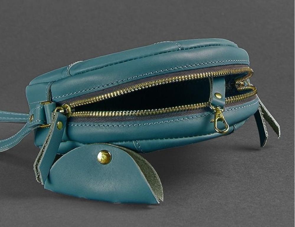 Кожаная сумка Бон-бон Малахит BN-BAG-11-malachite Темно-зеленый - Фото № 2