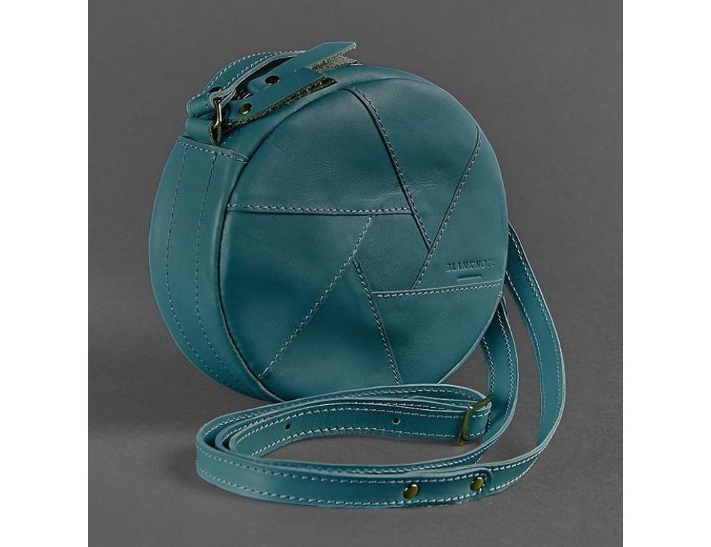 Кожаная сумка Бон-бон Малахит BN-BAG-11-malachite Темно-зеленый - Фото № 3