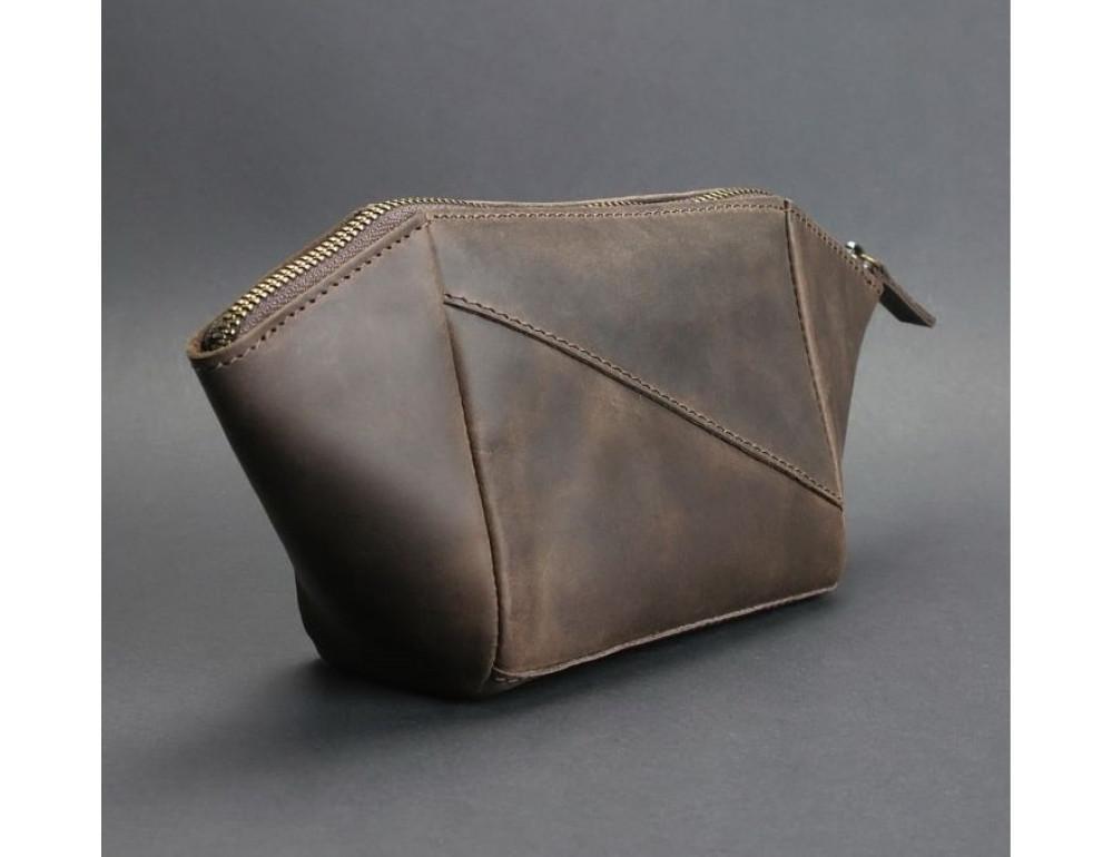 Кожаная косметичка Blanknote BN-CB-2-o тёмно-коричневый - Фото № 4