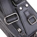 Кожаная сумка на пояс McDee JD7352A чёрная - Фото № 106