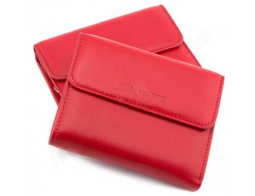 Красный кожаный кошелёк на магните Marco Coverna MC-2047A-2 - Фото № 1