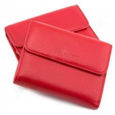 Красный кожаный кошелёк на магните Marco Coverna MC-2047A-2