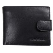 Чёрный кожаный портмоне Marco Coverna BK003-802A