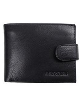 Чёрный кожаный портмоне Marco Coverna BK010-802A