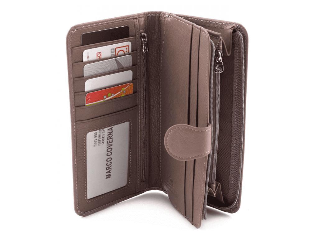 Пудровый кожаный кошелёк Marco Coverna MC031-950-6 - Фото № 2