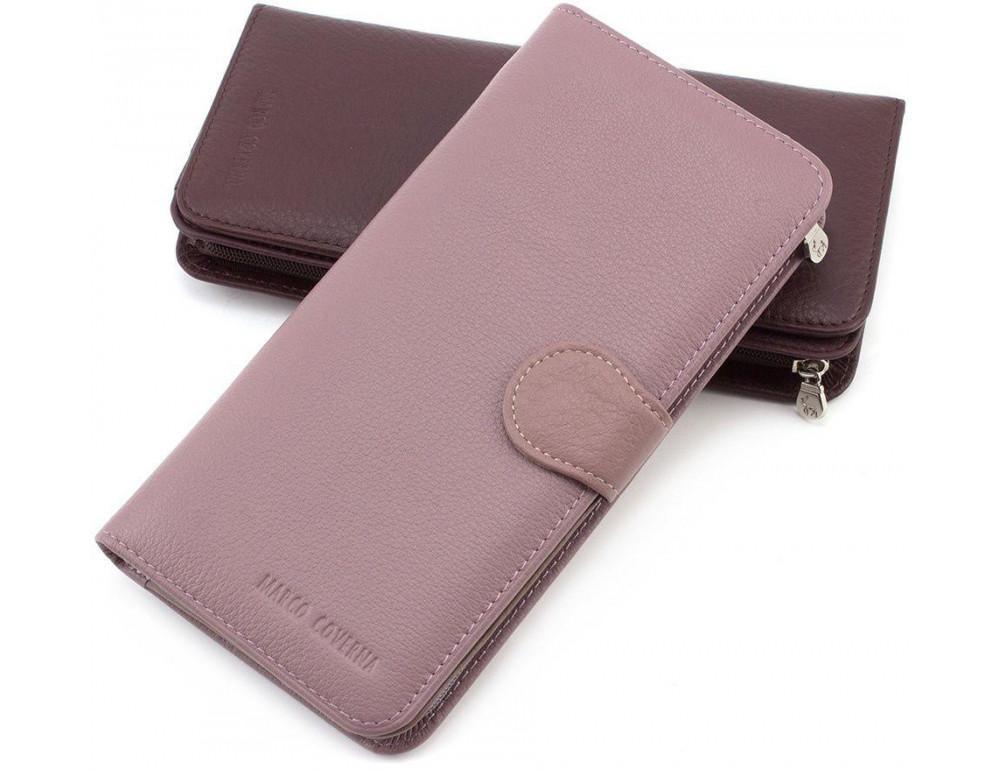 Пудровый кожаный кошелёк Marco Coverna MC031-950-6 - Фото № 1
