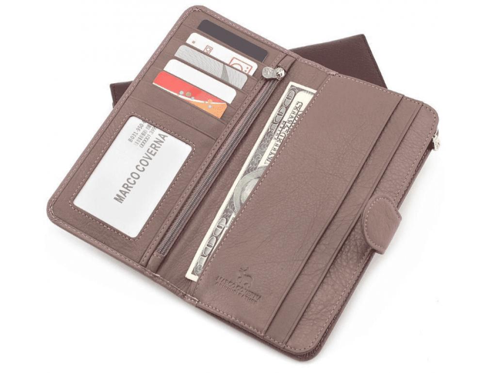 Пудровый кожаный кошелёк Marco Coverna MC031-950-6 - Фото № 3