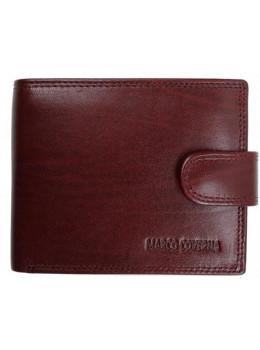 Коричневый кожаный портмоне Marco Coverna BK003-802B
