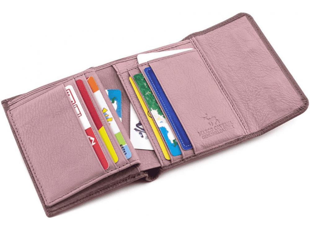 Пудровый кожаный кошелёк на магните Marco Coverna MC-2047A-6 - Фото № 2