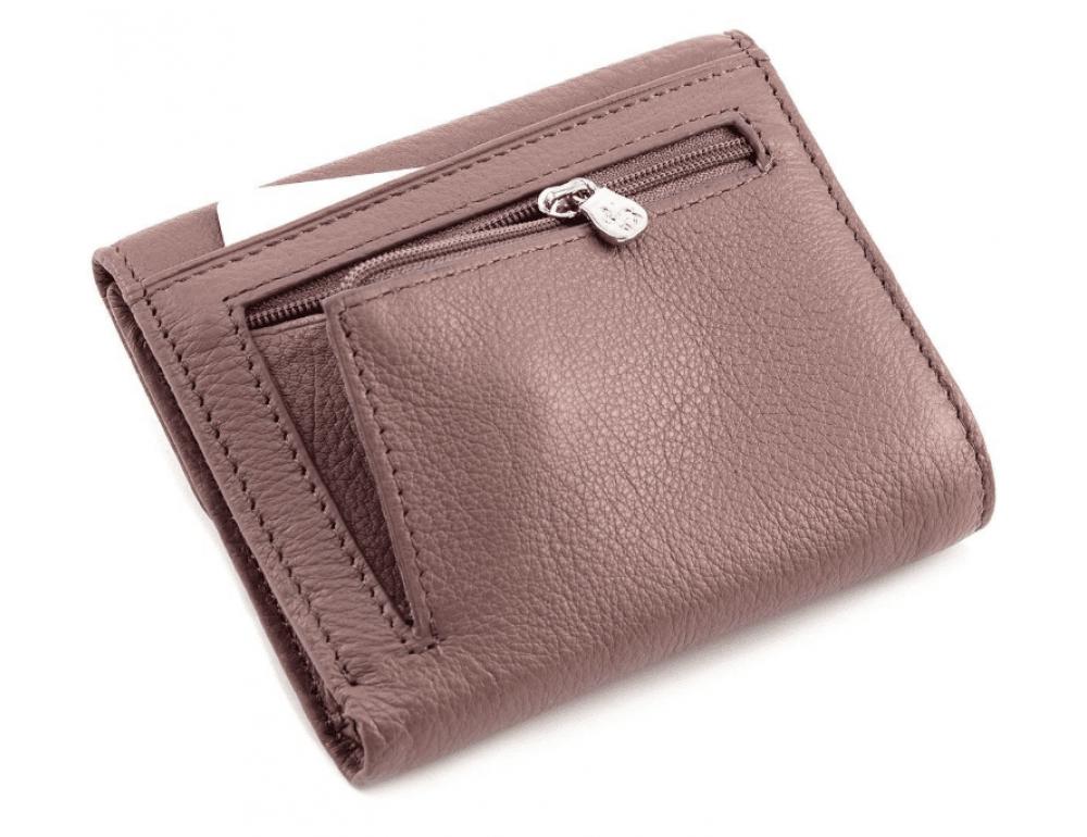 Пудровый кожаный кошелёк на магните Marco Coverna MC-2047A-6 - Фото № 3