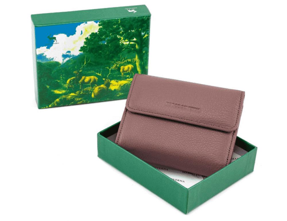 Пудровый кожаный кошелёк на магните Marco Coverna MC-2047A-6 - Фото № 6