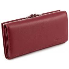 Бордовый кожаный кошелёк на магните женский Marco coverna TRW7970B