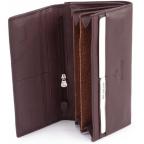 Тёмно-коричневый кожаный кошелёк Marco coverna MC-1412-8 - Фото № 101