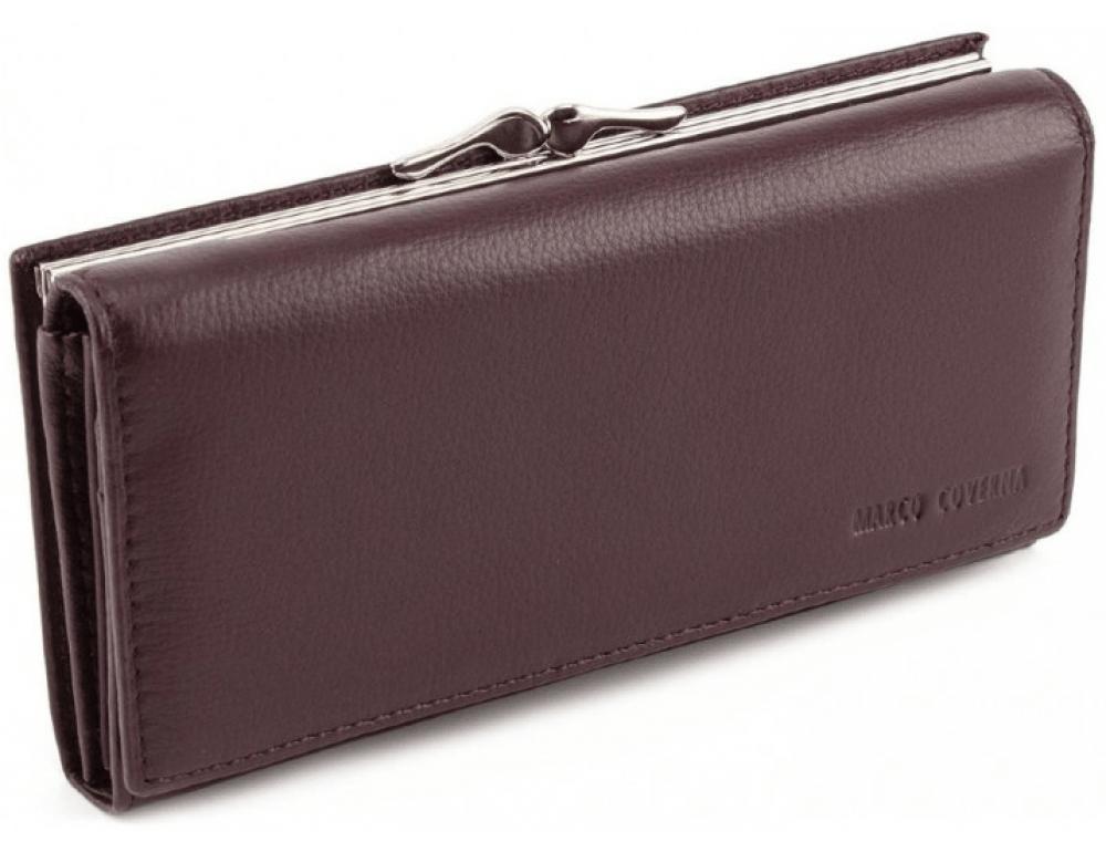 Тёмно-коричневый кожаный кошелёк Marco coverna MC-1412-8 - Фото № 1