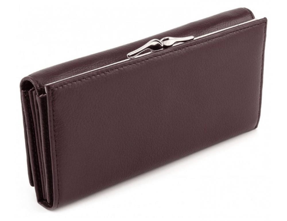 Тёмно-коричневый кожаный кошелёк Marco coverna MC-1412-8 - Фото № 3