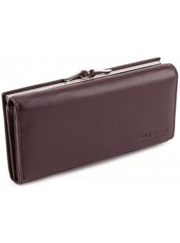 Тёмно-коричневый кожаный кошелёк Marco coverna MC-1412-8