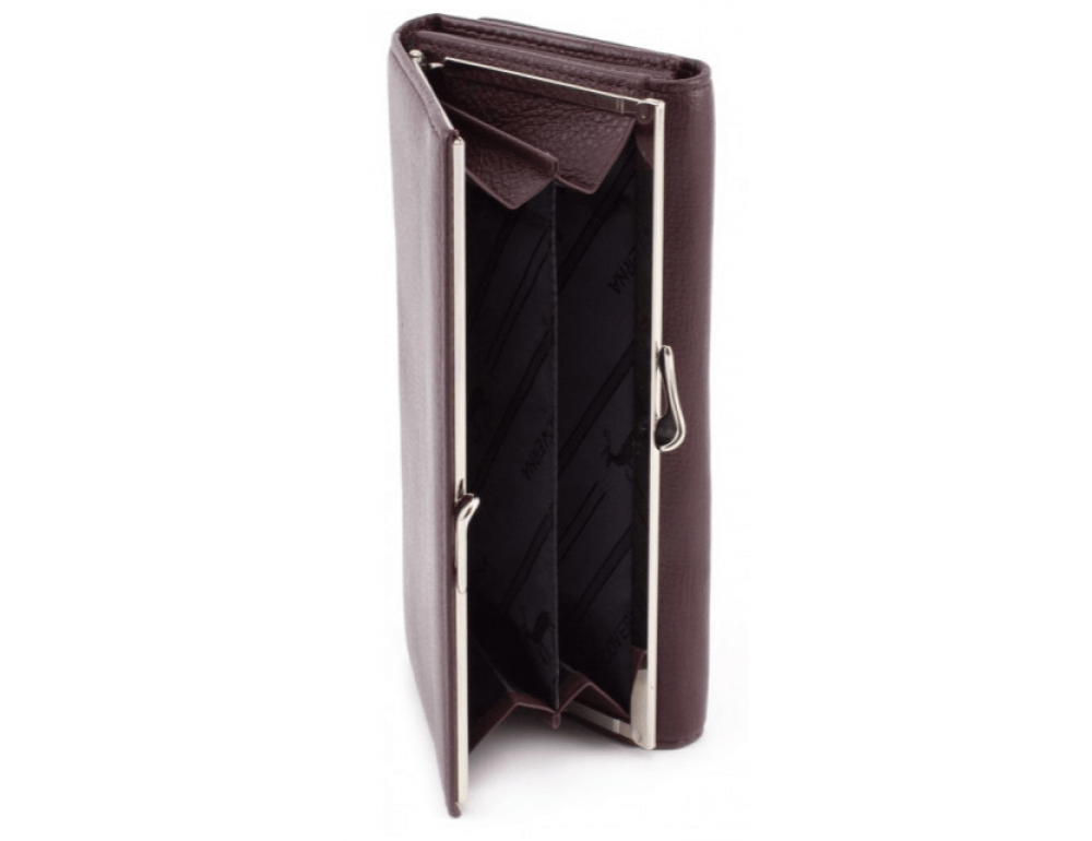 Тёмно-коричневый кожаный кошелёк Marco coverna MC-1412-8 - Фото № 4