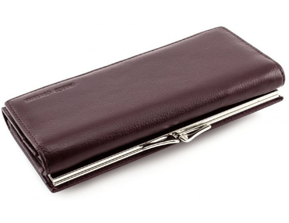 Тёмно-коричневый кожаный кошелёк Marco coverna MC-1412-8 - Фото № 5