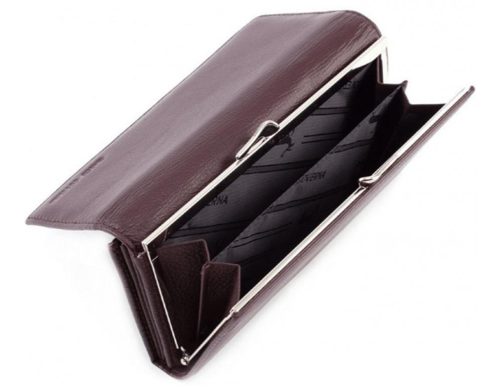 Тёмно-коричневый кожаный кошелёк Marco coverna MC-1412-8 - Фото № 7