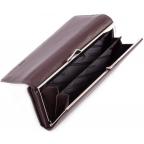 Тёмно-коричневый кожаный кошелёк Marco coverna MC-1412-8 - Фото № 106