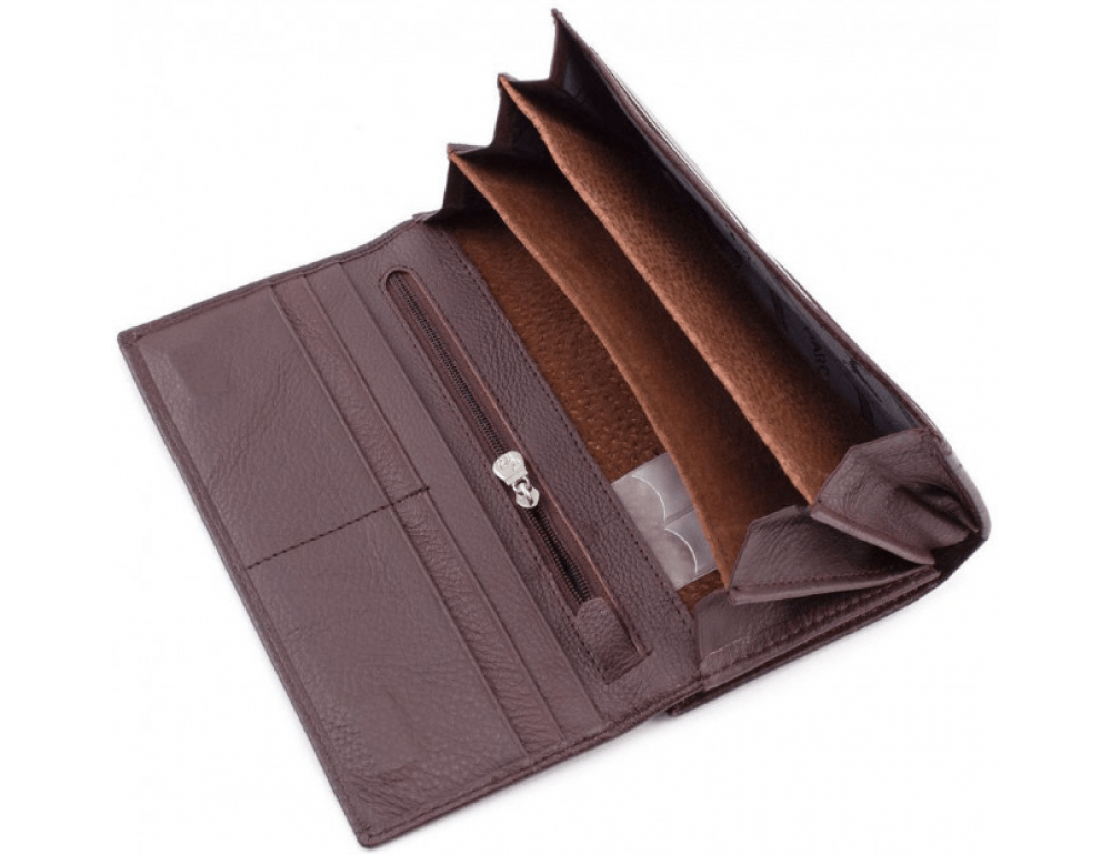 Тёмно-коричневый кожаный кошелёк Marco coverna MC-1412-8 - Фото № 8