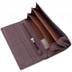 Тёмно-коричневый кожаный кошелёк Marco coverna MC-1412-8 - Фото № 107
