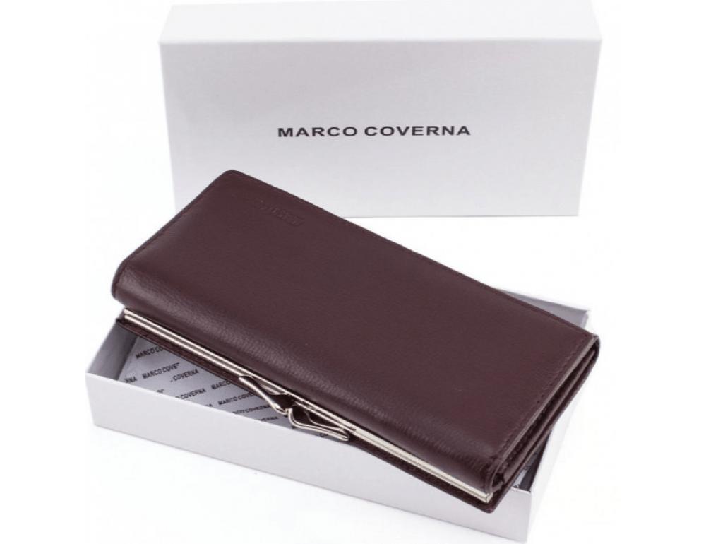 Тёмно-коричневый кожаный кошелёк Marco coverna MC-1412-8 - Фото № 9