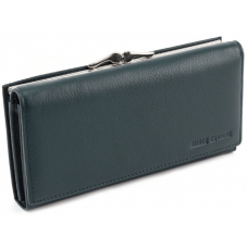Зелёный кожаный кошелёк Marco coverna MC-1412-7