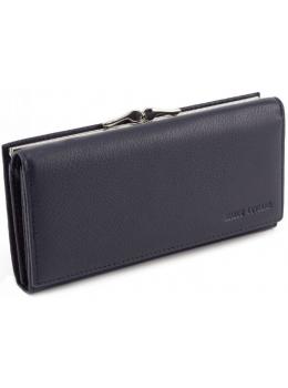 Тёмно-синий кожаный кошелёк Marco coverna MC-1412-5