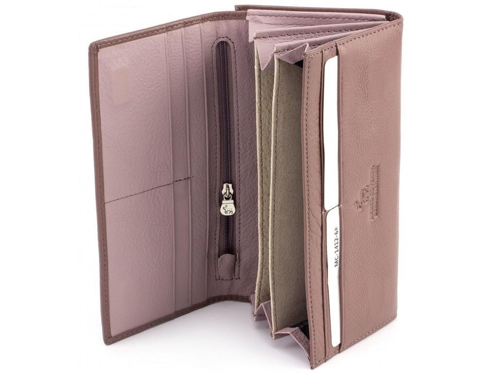 Бледно-розовый женский кожаный кошелёк Marco coverna MC-1412-6 - Фото № 2