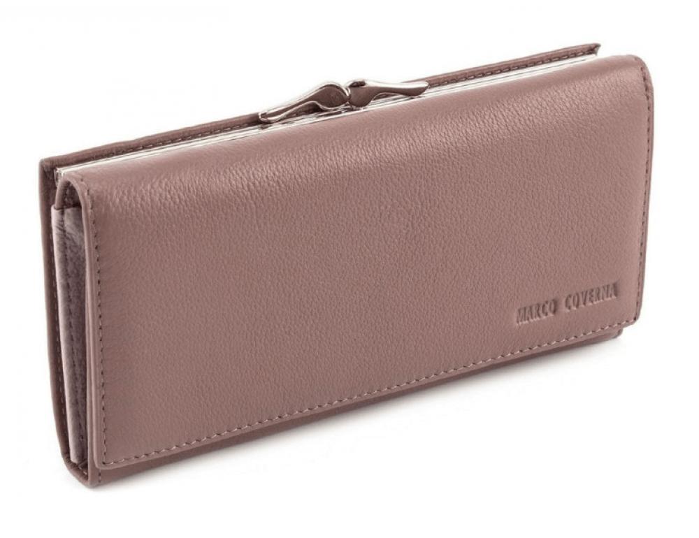 Бледно-розовый женский кожаный кошелёк Marco coverna MC-1412-6 - Фото № 1