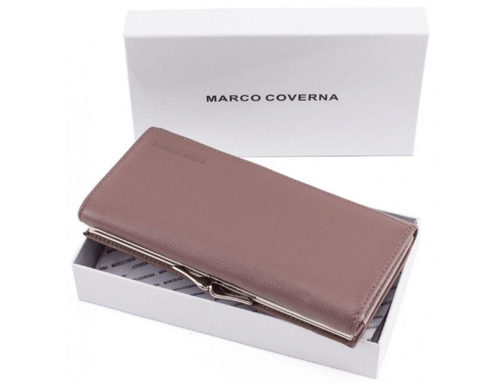 Бледно-розовый женский кожаный кошелёк Marco coverna MC-1412-6 - Фото № 6
