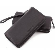Чёрный кожаный кошелёк с ремнём Marco Coverna TRW8575A