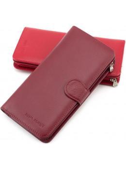 Бордовий шкіряний гаманець на кнопці Marco Coverna MC031-950-4