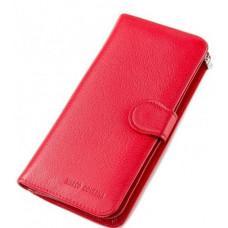 Красный кожаный кошелёк на кнопке Marco Coverna TRW968-049R