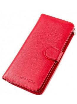 Красный кожаный кошелёк на кнопке Marco Coverna MC031-950-2