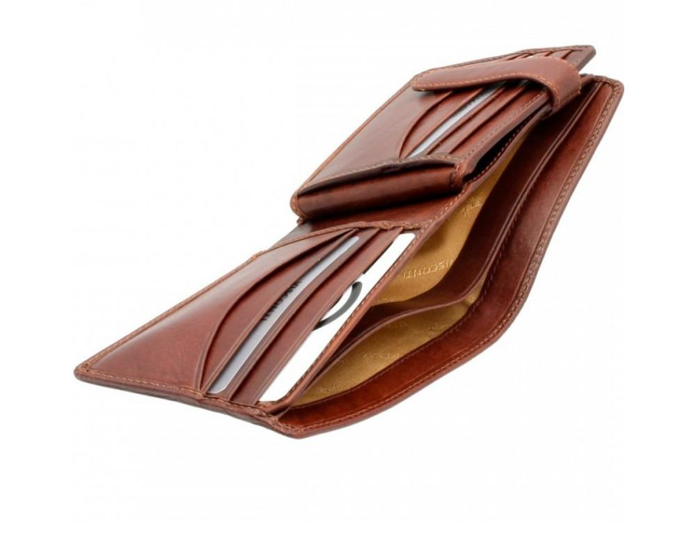Коричневый мужской кошелек Visconti TSC43 Montieri c RFID (Tan) - Фото № 3
