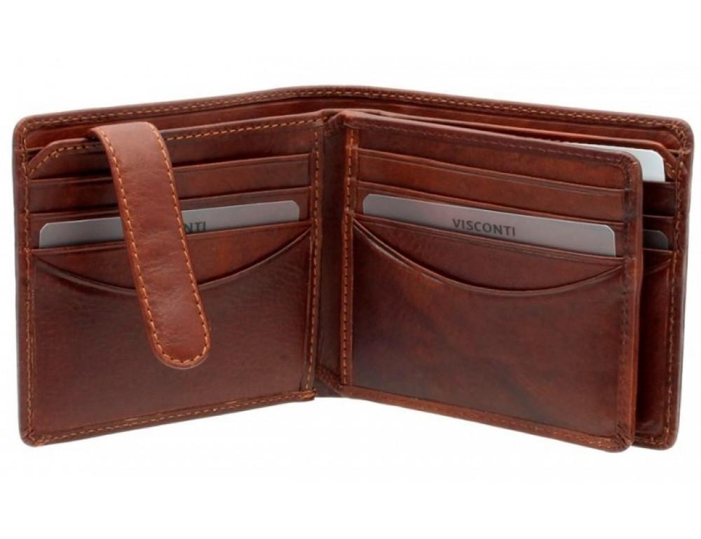 Коричневый мужской кошелек Visconti TSC43 Montieri c RFID (Tan) - Фото № 4