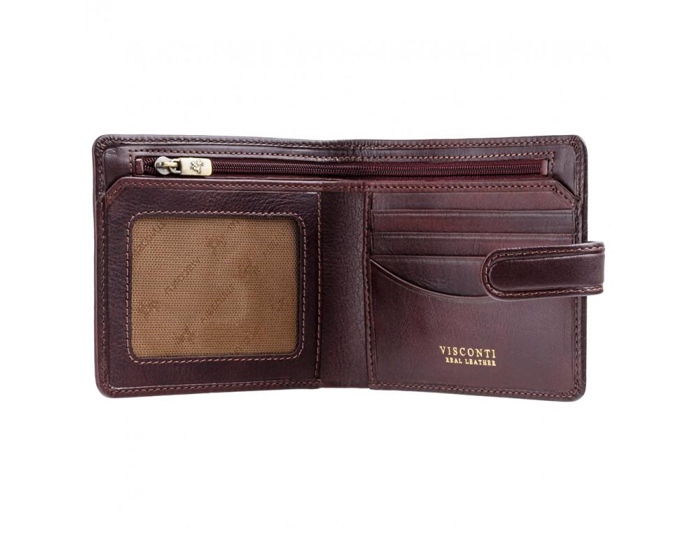 Тёмно-коричневый мужской кошелек Visconti TSC41 BRN Massa c RFID - Фото № 2