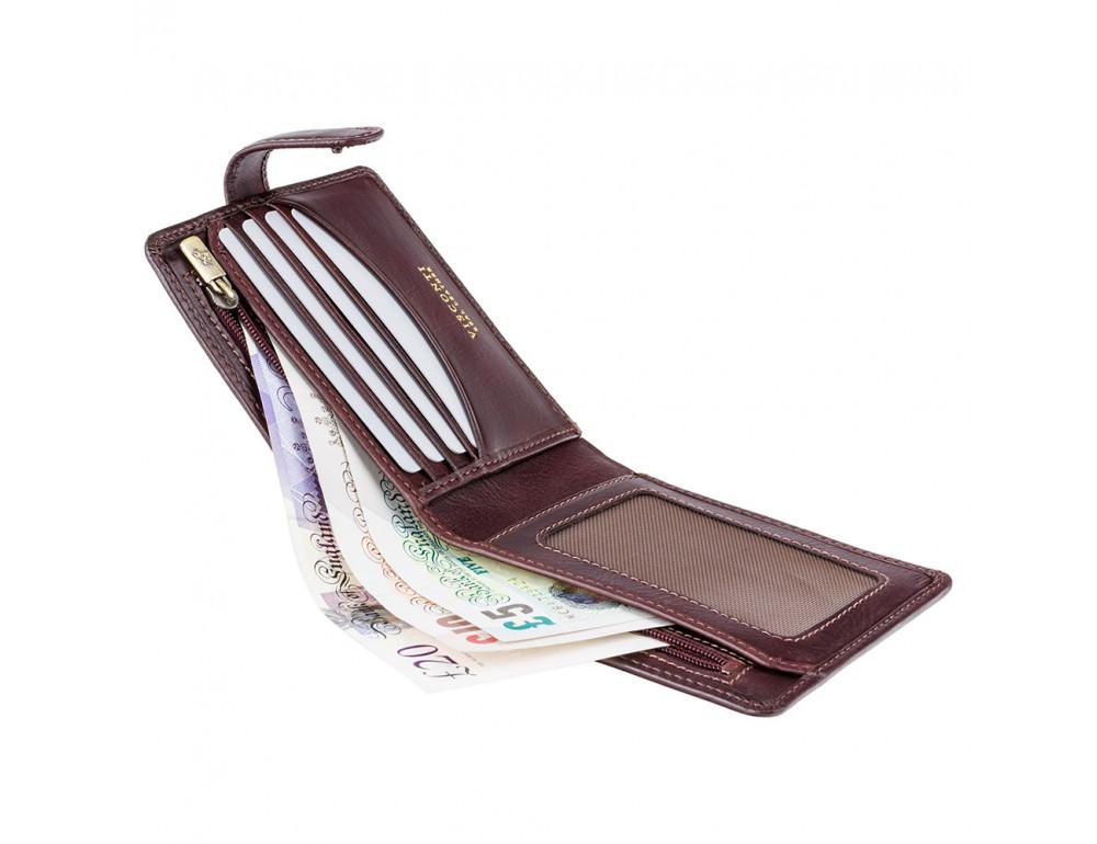 Тёмно-коричневый мужской кошелек Visconti TSC41 BRN Massa c RFID - Фото № 4