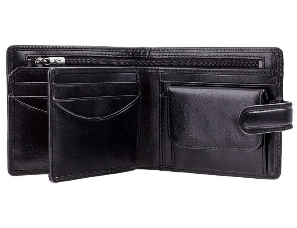 Мужской кожаный кошелек Visconti TSC42 BLK с RFID Arezzo black черный  - Фото № 2