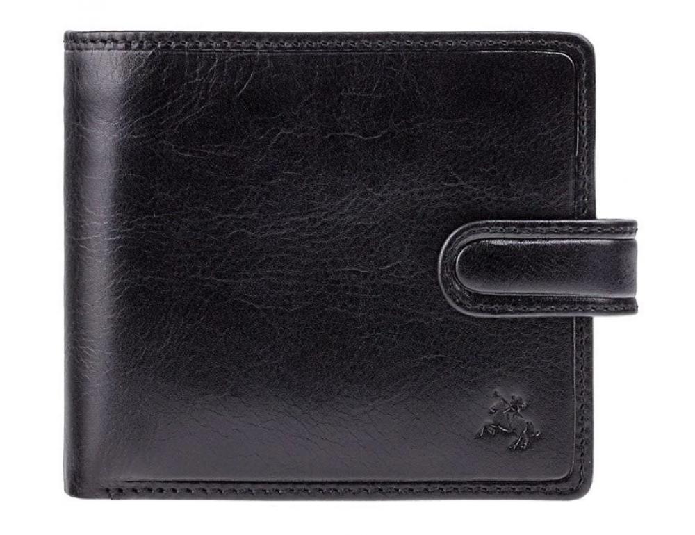 Мужской кожаный кошелек Visconti TSC42 BLK с RFID Arezzo black черный  - Фото № 1