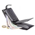 Мужской кожаный кошелек Visconti TSC42 BLK с RFID Arezzo black черный  - Фото № 102