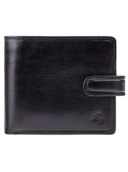 Чоловічий шкіряний гаманець Visconti TSC42 BLK з RFID Arezzo black чорний