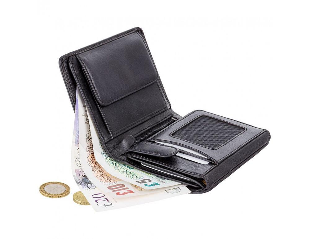 Мужской кожаный кошелек Visconti TSC44 Lucca чёрный - Фото № 3
