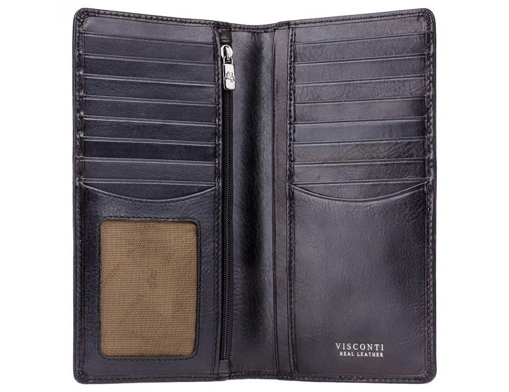 Чёрный мужской кошелек Visconti TSC45 BLK - Фото № 2