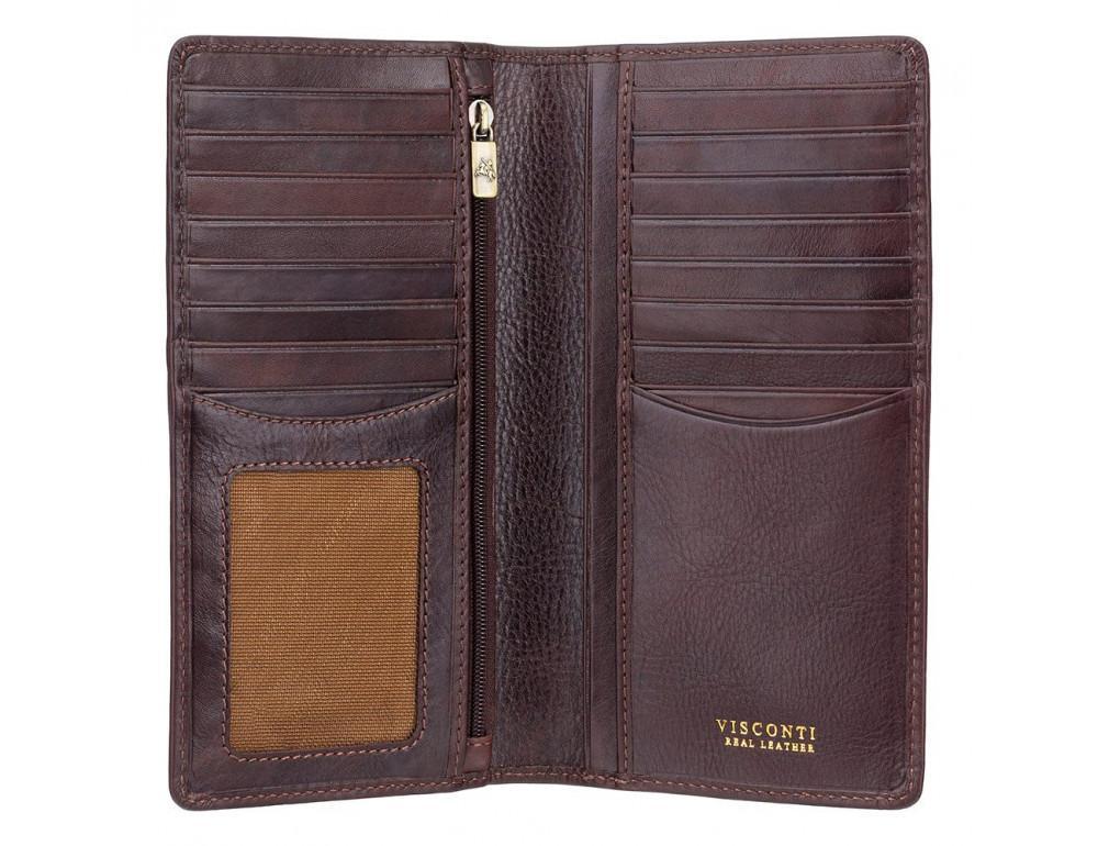 Тёмно-коричневый мужской кошелек Visconti TSC45 Carrara c RFID (Brown) - Фото № 2